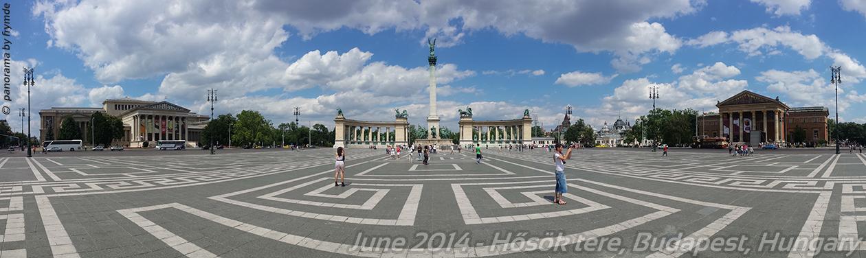 Panorama Hősök tere, Budapest, Hungary